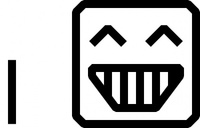 smiley,face,icon,black & white,pixel,cartoon,remix problem