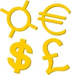 gold,currency,symbol,clip