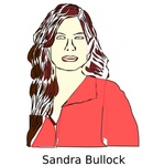 sandra,bullock,people,woman,face,media,clip art,public domain,image,png,svg