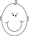happy,boyface,outline,remix,people,person,boy,baby,bald,infant,face,head,cartoon,contour,worldlabel