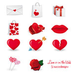 cuore,heart,icon,kiss,lip,lollipop,love,rose,shopping bag,valentine's day