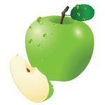 food,fruit,green apple,nature,slice