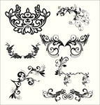 clear,element,floral,seamless,swirl,vintage