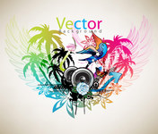 abstract,artistic,backdrop,background,bass,bird,circle,cloud,coconut,color,design,editable,eps10,heart