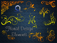 floral design element,vector florals,floral,swirl,element,flower,flora