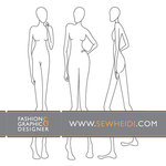 sketch,fashion,croquis,female,silhouette,form,template,person,people,woman