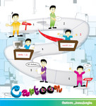 cartoon beaujungka,cartoon,game,people,character,play,board game