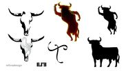 spanish,bull,skull,silhouette,flamenco,animal,horn,steer