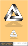 impossible triangle,impossible,triangle,vector,artwork,clip,art,optical,illusion