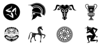 ancient,greece,greek,helmet,spartan,minotaur,culture,icon,symbol