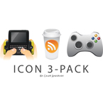 coffee,controller,cup,game,message,phone,rss,sidekick,icon,icon vector