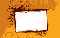 background,banner,frame,grunge,grungy,orange,swirl