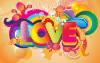 3d,art,composition,coreldraw,gradient,illustration,illustrator,letter,love,motion,rainbow,shape,soft,text,graphic,word