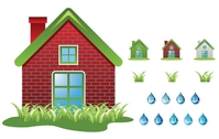 ecology,house,icon,grass,drop,water,nature