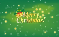 christmas,xmas,card,element,background,green,greeting,season,seasonal,bell,leaf,mistletoe