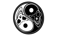 ying,yang,skull,illustration,detail,tribal,tattoo