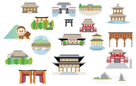 japan,map,icon,building,structure,house,japanese