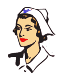 blue,lantern,professional,health,hospital,care,worker,woman,clothing,hat,white,lipstick,nursing,nurse,woman,woman