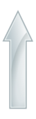arrow,glossy,shiny,glass,white,gray,grey,up,arrow