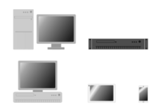 computer,phone,tablet,server,desktop,client,tower,rack,19',technology,icon,simple,bw