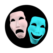 theatre,sign,comedy,tragedy,face,theater,gesichter