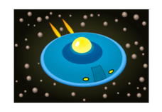 flying saucer,cosmic,cosmos,ship,space,planet,cartoon,alien,extra terrestrial,transport,jet,vehicle,spaceship,planet