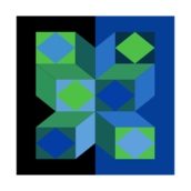 geometry,rhombus,rectangle,diamond,green,blue,black,fluoro,fluorescent,bright