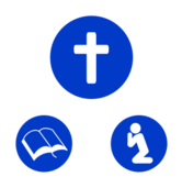 christian,religious,cross,bible,pray,jesus,life,saving,sign,blue,icon,silhouette,symbol