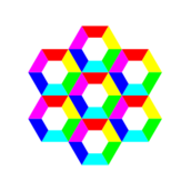 half,hexagon,fun,6,color