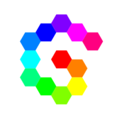 12,hexagon,spiral,rainbow