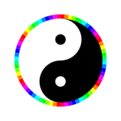 yin,yang,yinyang,circle,rainbow,12,color