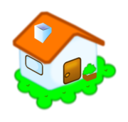 home,casa,naranja,verde,color,orange,green,icono,icon,cartoon