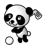 golf,panda,golf ball,sport,animal,cartoon,sport