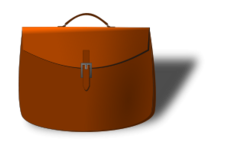 briefcase,leather,satchel,bag,portfolio,inkscape