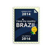 olympics,brazil,world cup,love,country,postage stamp