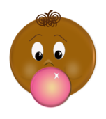 face,brown,pink,bubble,gum,chew,child,boy,blow,face,svg,inkscape,clipart