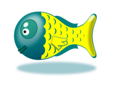 fish,fisch,baby,toy,spielzeug,babytoys,comic,plastic,yellow,blue,fisch,photorealistic,toy,comic,toy