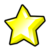 star,symbol,award,rating,game,bonus,power up,yellow,3d,bevel