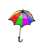 umbrella,rain,tool,cover,colored,cartoon