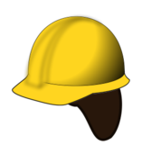 hard hat,hat,liner,yellow,construction