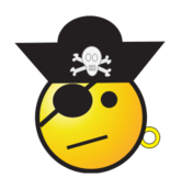 face,emoticon,smiley,pirate,jolly roger,eyepatch