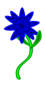 trip,triptastic,blue,flower,green,stem,leaf,hippy,trippy