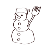 snowman,snow,winter,holiday,outline,sketch,holiday