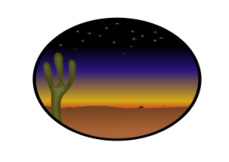 sunset,cowboy,country,dessert,starry,cactus