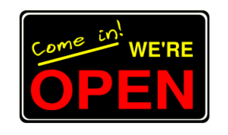 sign,signage,open,we're open