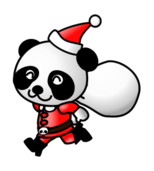 santa claus,christmas2010,christmas,xmas,cartoon,animal,panda,santa claus,christmas,xmas