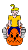 cartoon,girl,riding,space,hopper,fun,activity