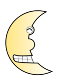 moon,haft moon,night,bujung,toon,cartoon,smile