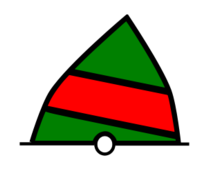 conical,buoy,green,red,navigation,sea,chart,sailing,symbol