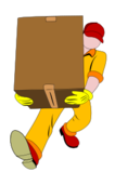 people,job,work,man,carrying,cardboard,box